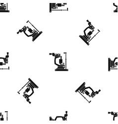 Phoropter pattern seamless black vector