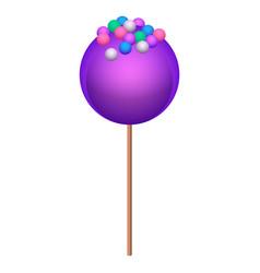 Purple lollipop icon isometric style vector