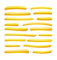 realistic french fries tasty fast food vector image