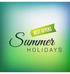 Retro styled summer calligraphic design card vector