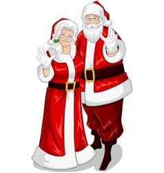Santa And Mrs Claus vector image