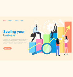 scaling business people achieving success at work vector image
