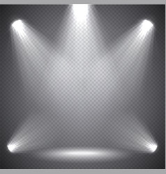 Scene illumination bright light transparent vector