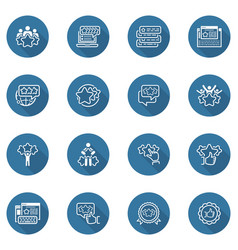 simple set of testimonials icons vector image