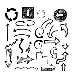 Sketch doodle arrows vector