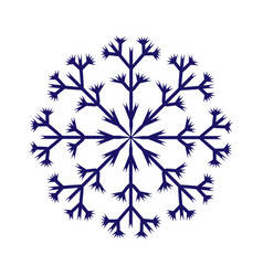 snowflake sign 2610 vector image