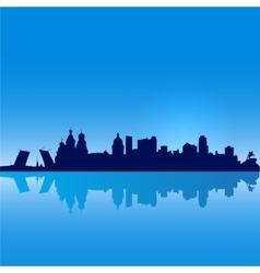 St Petersburg silhouette vector image