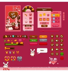 The design elements of the game interface vector
