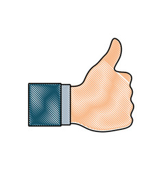 thumbs up design vector image