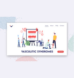 Vasculitic syndromes landing page template vector