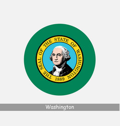 washington round circle flag vector image