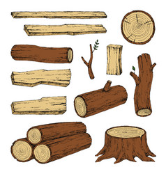 wood burning materials sketch vector image