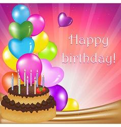 Birthday Day Card vector image