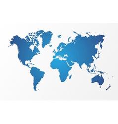 Blue World map isolated shape EPS10 file vector image