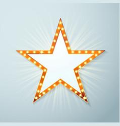 bright light bulb cinema star symbol layout vector image