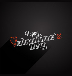Happy valentines day wishes greeting card vector