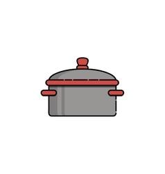 Kitchen flat icon saucepan vector