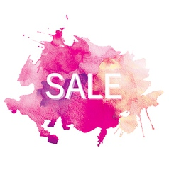 sale watercolor vector image vector image