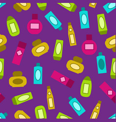 shampoo pattern colorful seamless background vector image