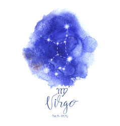 astrology sign virgo vector image vector image