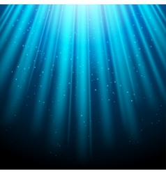 Blue glowing light background with luminous rays vector image