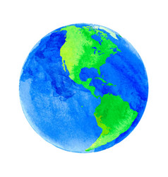 earth with watercolor vector image vector image