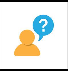 pictograph faq question vector image