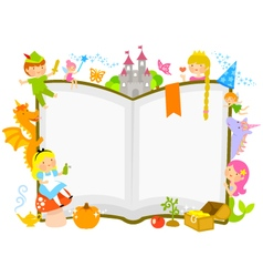 fairytales characters vector image vector image