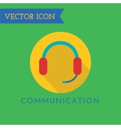 Headphone Icon Icon Sound tools or Dj and vector image vector image