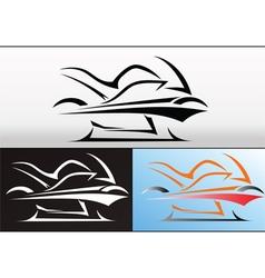 Motorbike logo design 2 vector image vector image