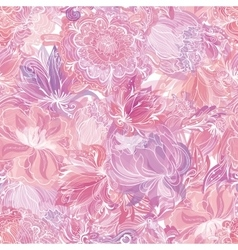 Pink Soft Floral Pattern vector image vector image
