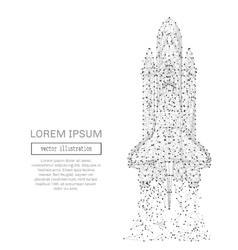 space shuttle low poly gray vector image