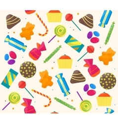 Sweet Candies Background Pattern vector image