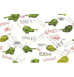 Tanks Pattern vector image vector image