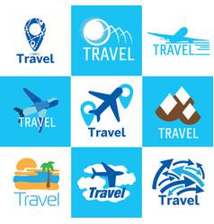 travel logo set vector image