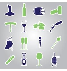 Wine stickers icon set eps10 vector