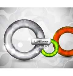 abstract round glossy shapes background vector image vector image