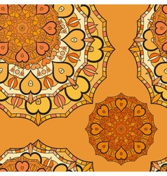 Asium seamless pattern with golden ornament Lace vector image vector image