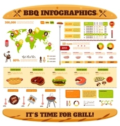 Barbecue Infographics Set vector image vector image