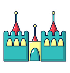 bouncy castles icon cartoon style vector image