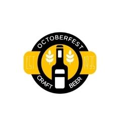 Craft Beer Logo Design Template With Bottle vector image