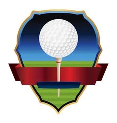 Golf Emblem Badge vector image vector image