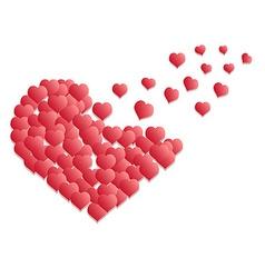 heart flying vector image vector image