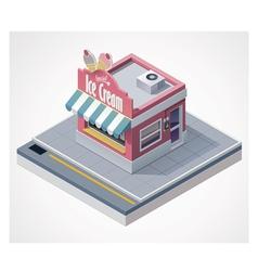 isometric ice cream store vector image