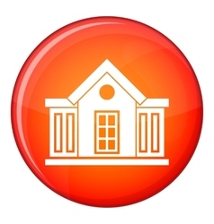 Mansion icon flat style vector