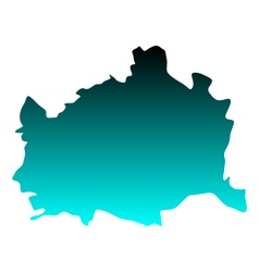 Map of Vienna vector image vector image