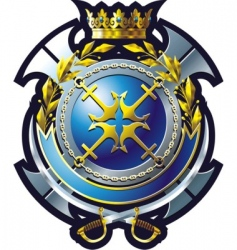 navy emblem vector image vector image