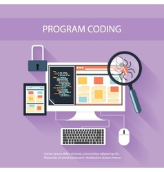 Programming concept vector image vector image