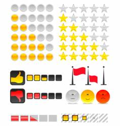 rating system vector image vector image