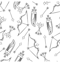 Seamless pattern with arrows and bow vector image vector image